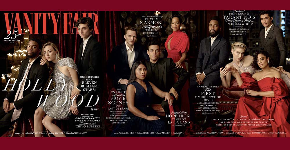 Yalitza Aparicio se rodea de Hollywood en la revista Vanity Fair