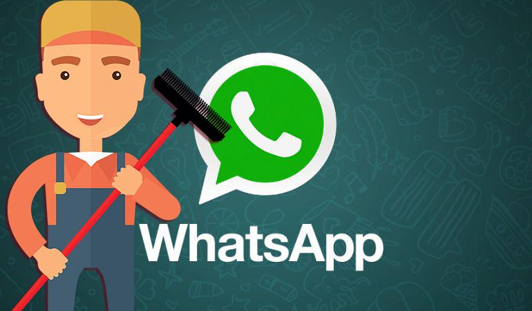 En tu teléfono celular Libera espacio de WhatsApp