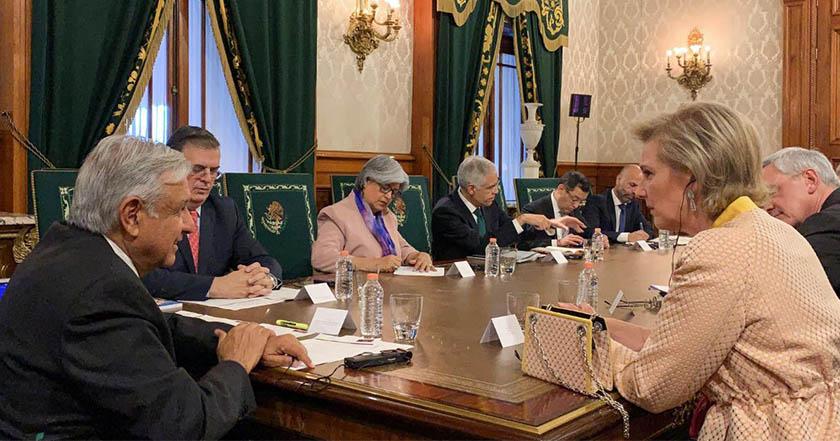 AMLO recibe delegación de la princesa Astrid de Bélgica