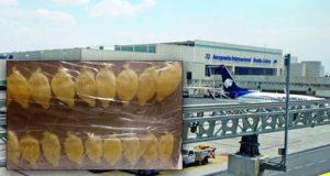 Detienen en AICM a peruano que transportaba cocaína en el estómago