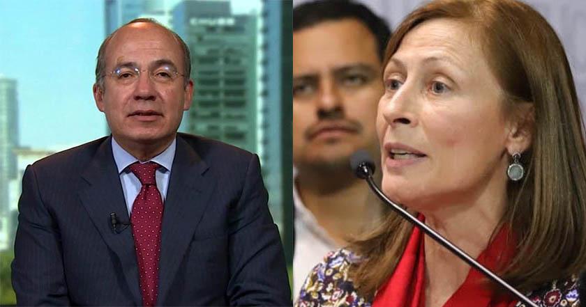 Felipe Calderón 'da pena' jugando de reportero_ Tatiana Clouthier