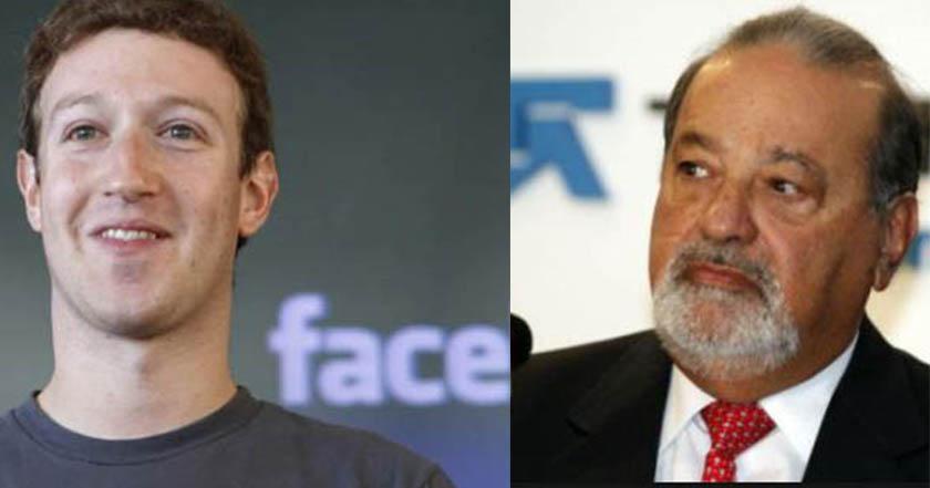 Mark Zuckerberg desbanca a Carlos Slim en ranking de millonarios