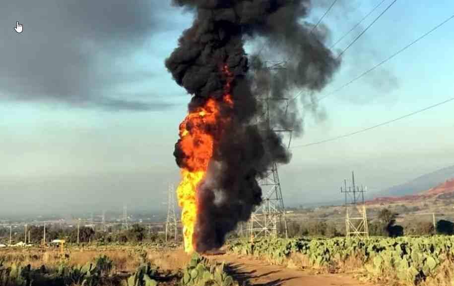 Explota toma clandestina en Axapusco, Estado de México