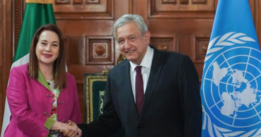 AMLO se reúne con presidenta de Asamblea General de la ONU