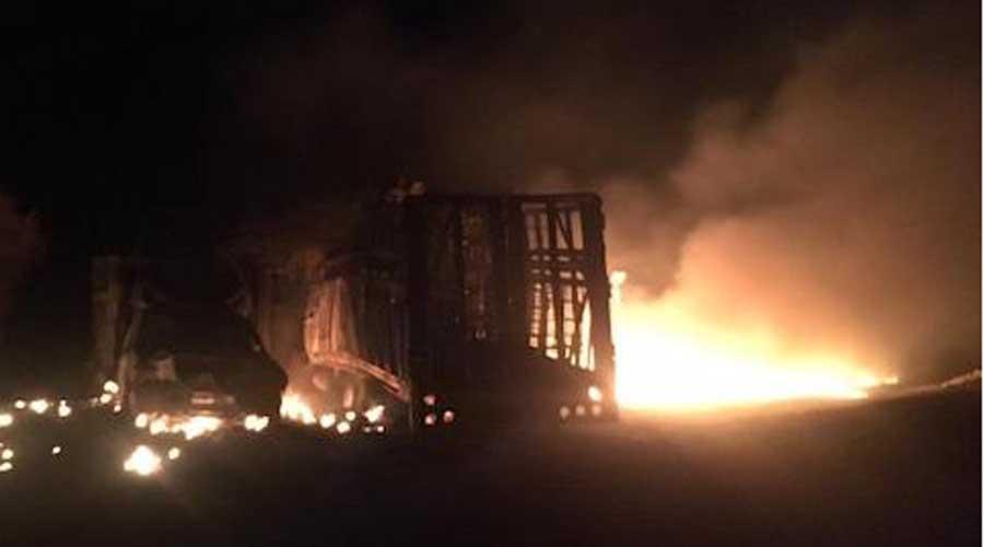 Se registra incendio en ducto de Pemex en León, Guanajuato