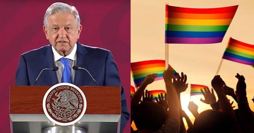 AMLO presenta plan contra homofobia, transfobia y bifobia
