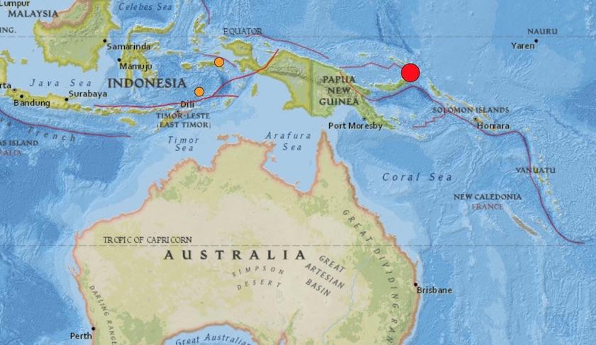 Terremoto de 7.5 grados sacude Papúa Nueva Guinea