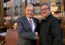 AMLO se reúne con el francés Jean-Luc Mélenchon