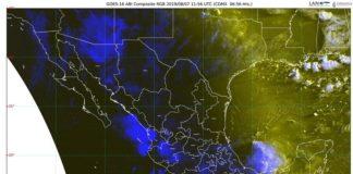 Durante las próximas horas prevén lluvias intensas en Sinaloa, Nayarit, Jalisco, Oaxaca y Chiapas