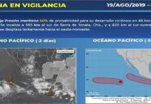 Pronóstico de lluvias torrenciales en Oaxaca y Chiapas
