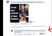 Bolsonaro agrede a Macron