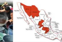 Geografía del estrés hídrico en México, entidades con menos agua