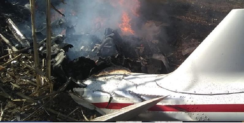 Helicóptero accidentado, informe técnico