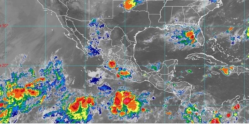 lluvias México, imagen de satélite, nubes de vapor