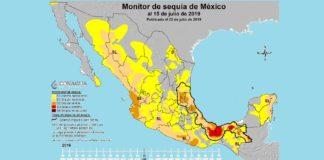 Sequía mapa conagua México lluvias