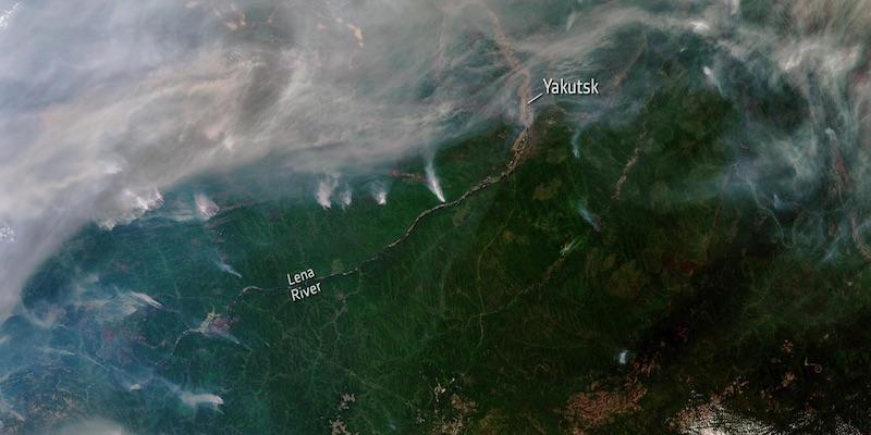 Ya es posible ver desde el espacio los incendios en el Ártico