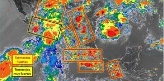 Sinaloa pronóstico de lluvias