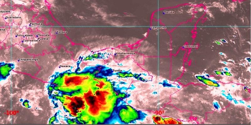 imagen de satélite mapa clima alerta trombas marinas, lluvias