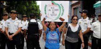 Guatemala contra estado de sitio