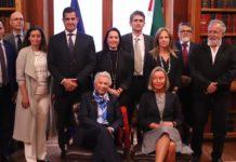 Sánchez Cordero habla de migración con delegación de la Unión Europea