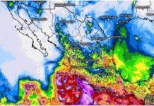 Lluvias en México, fin de semana
