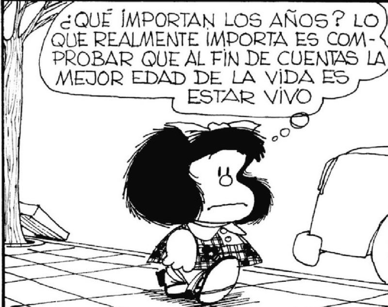 Frases De Mafalda Hoy En Cumpleaños Número 55