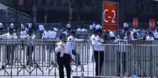 Sin arcos detectores, más de 4 mil policías reguardarán el Zócalo