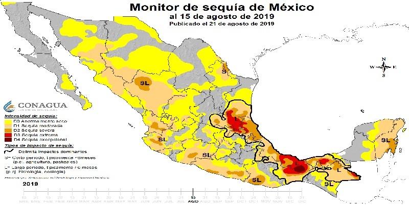 sequía en México, 2019
