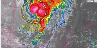 Depresión tropical 17, al sureste de Tamaulipas, provocará lluvias