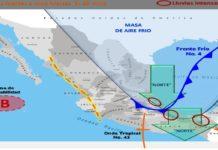 Frío y lluvias en México