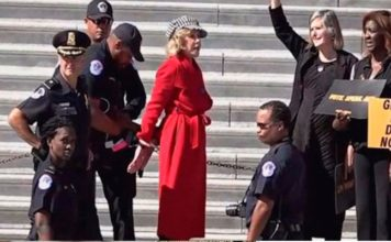 Jane Fonda arrestada por activista climática