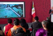 """AMLO presenta avances en Santa Lucía, """"en suelo firme, no en fango"""""""