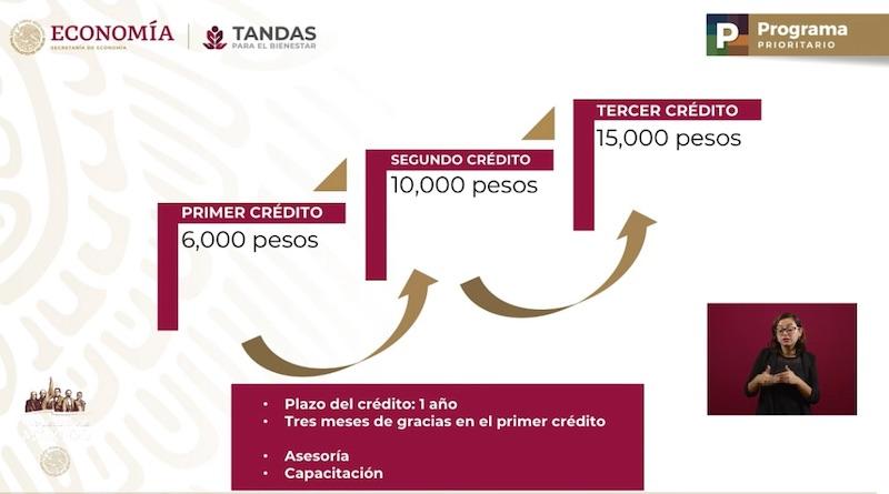 Economía: Más de 350 mil créditos de 6 mil pesos, reporta SE
