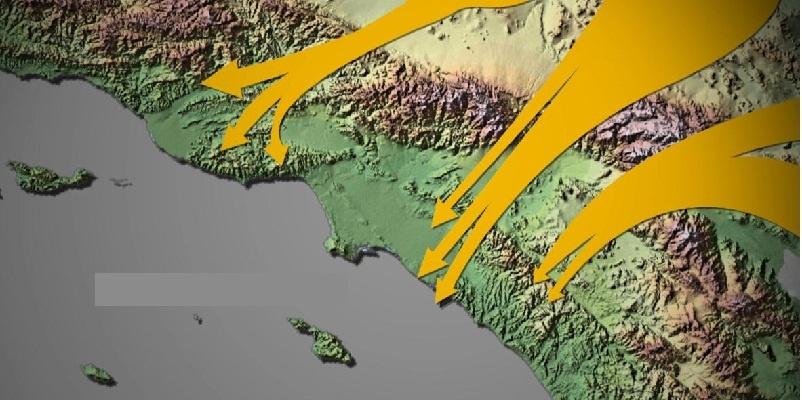 vientos de Santa Ana