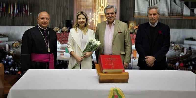 Alberto visitó la Basílica de la Virgen de Guadalupe