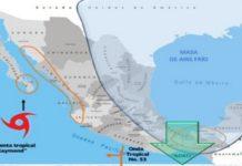cielo nublado en gran parte de México
