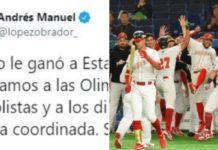 AMLO felicita a equipo olímpico de bésibol
