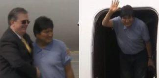 """Evo Morales en México: """"muchas gracias por salvarnos la vida"""""""