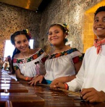 Niños y niñas tabasqueños tocarán la marimba en festival de Rusia