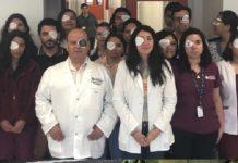 Chile, médicos protestan por mutilación ocular a manos de carabineros