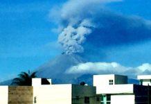 Volcán Popocatépetl, intenso