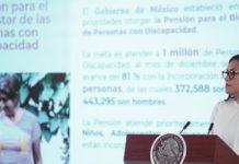 AMLO: Avance del 81% en apoyo para personas con discapacidad
