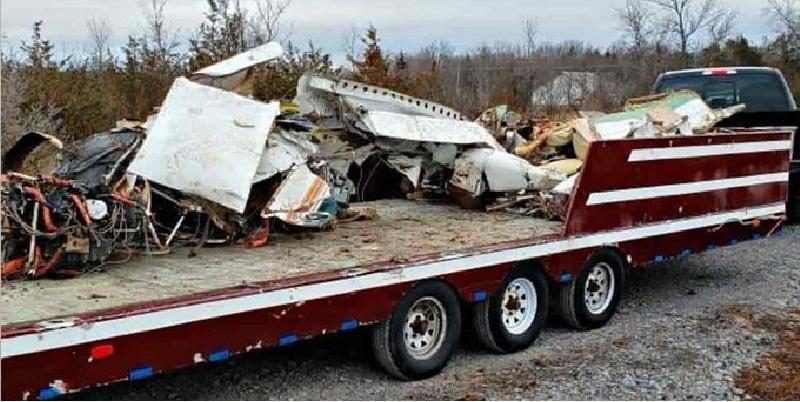 Avión accidentado en Dakota