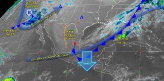 Prevén lluvias fuertes en Baja California y Norte en costas de Veracruz