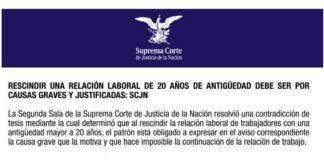 Suprema Corte protege a trabajadores