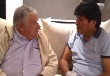 El ex presidente Pepe Mujica visita a Evo Morales en la CDMX