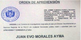 Evo Morales perseguido por los golpistas