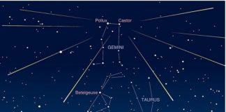 Lluvia de estrellas hasta 19 de diciembre