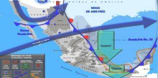 México, clima, 29 de enero, 2020