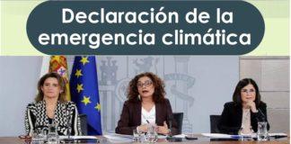 España declara emergencia climática y ambiental